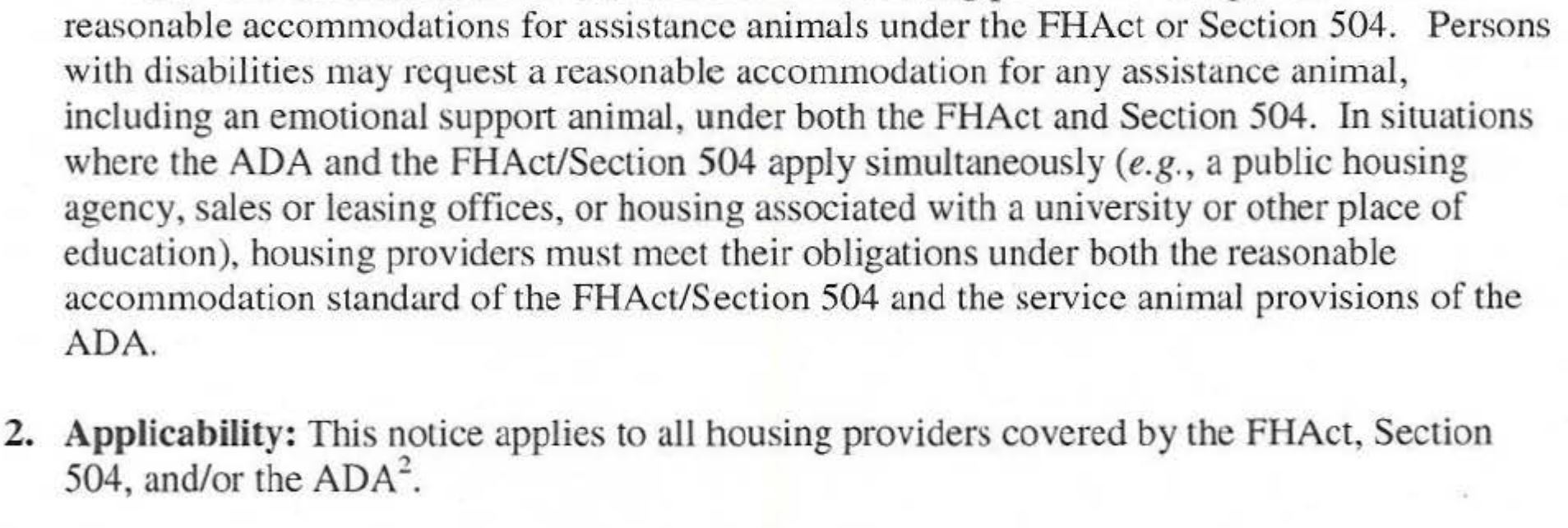 2 ironclad emotional support animal laws must read hud notice about emotional support animals 1betcityfo Gallery